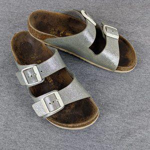 Birkenstock Arizona silver sandals 220 size 34